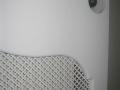 Cache radiateur laqué avec tôle perforée