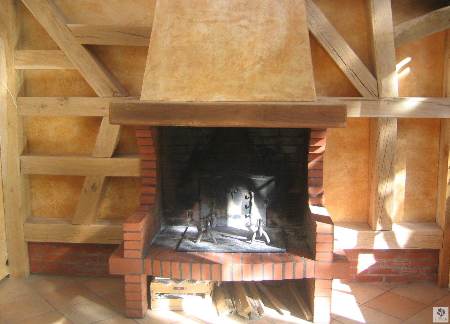 Habillage contour chemin e bois toulouse st phane germain - Habillage de cheminee exterieur ...