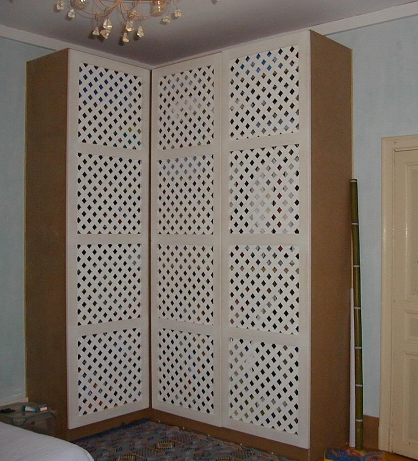 Fabrication biblioth que bois sur mesure toulouse - Peindre des portes de placard en melamine ...