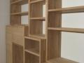 Bibliothèque lamellé-collée en chêne