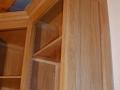 Bibliothèque en chêne  ciré