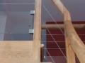 Escalier anglais en chêne vernis incolore