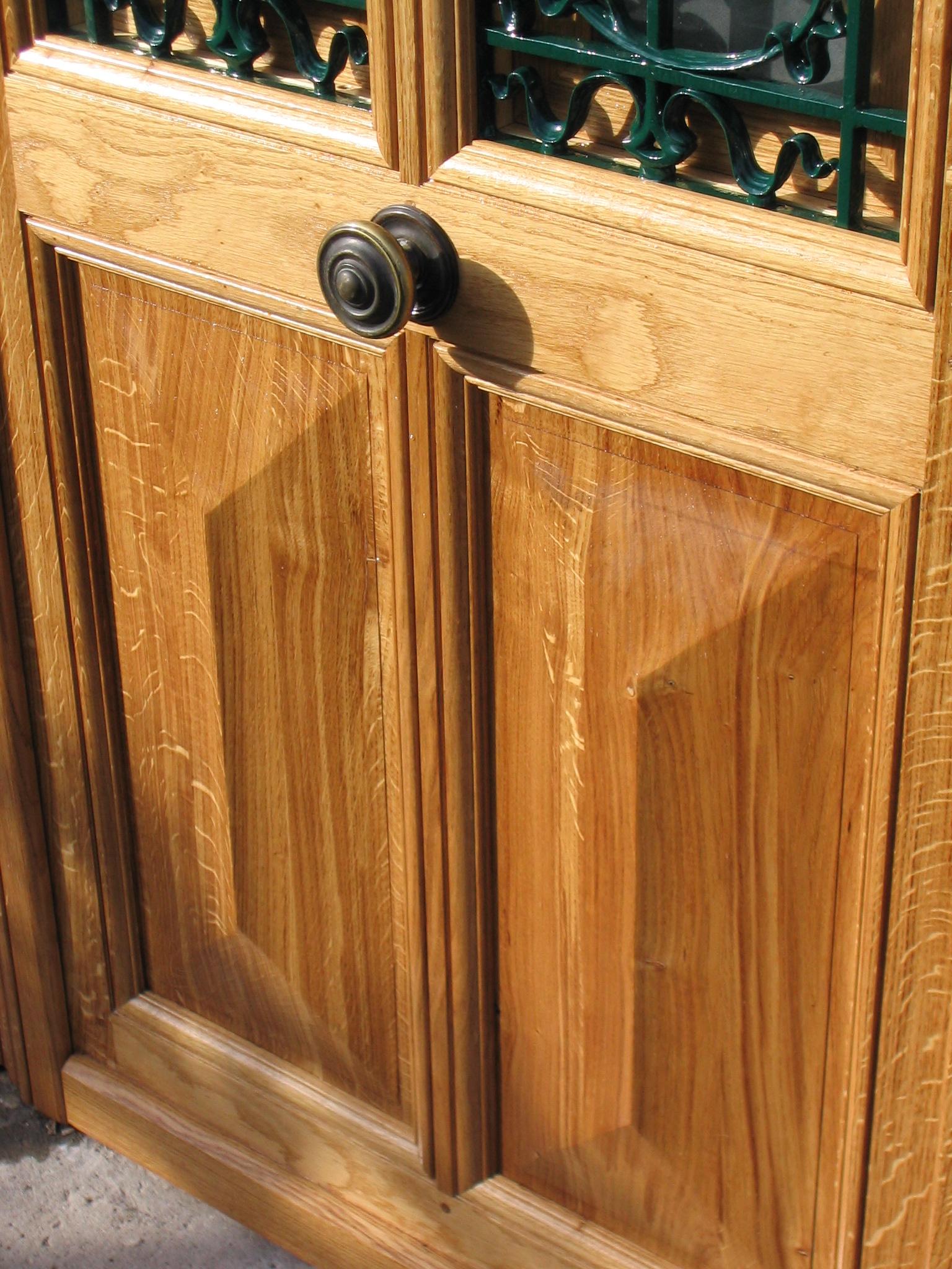 100 portes en bois sur mesure porte d entr e sur for Porte fenetre bois sur mesure
