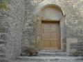 Porte d'église en chêne vernis