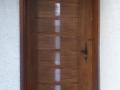 Porte en chêne montant cintré lame incrustées de  verre dépoli