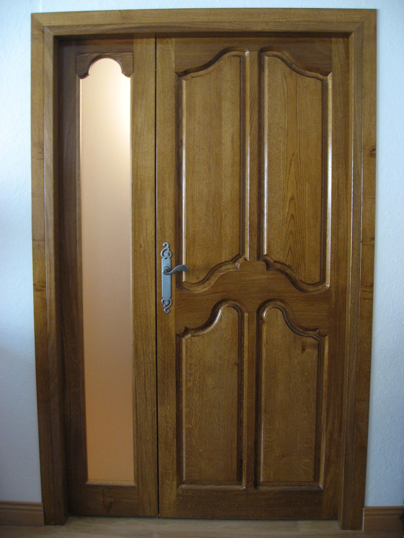 Fabrication porte coulissante bois chassis bois vitr sur for Peindre porte interieur