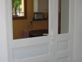 Porte en pin peinte