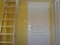 Escalier de mezzanine en hêtre.