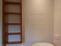 Plan vasque et meuble de salle de bains en sipo.