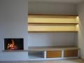 Etagères  éclairantes et meubles à tiroirs