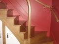 Escalier anglais en chêne verni incolore