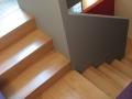 Escalier en hêtre avec structure en MDF et pin à peindre
