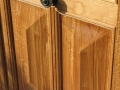 Porte en chêne lasurée