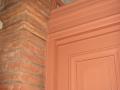 Porte en chêne peinte