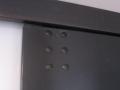 Rangement sous mezzanine MDF laqué et acier